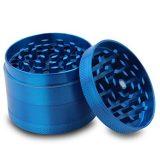 GRINDER alluminio con setaccio 4 parti- azzurro 50 mm