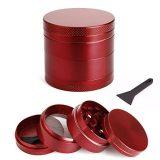 GRINDER alluminio con setaccio 4 parti- rosso