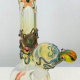 BONG POLPO- in vetro soffiato h. 13 cm